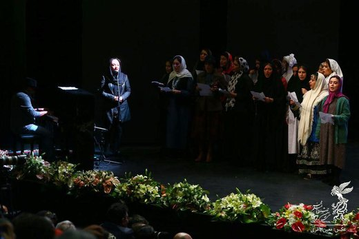 تکذیب تکخوانی زن در افتتاحیه جشنواره فیلم فجر