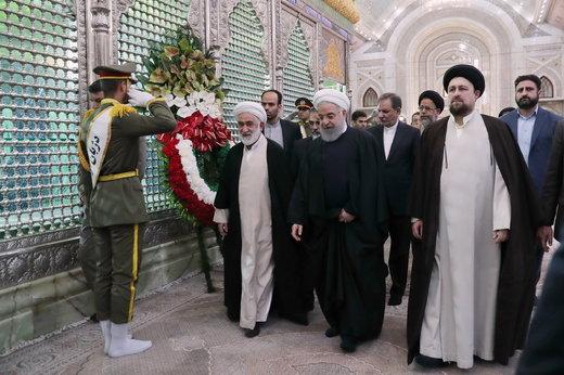 مراسم تجدید میثاق اعضای دولت با آرمانهای امام راحل و شهیدان