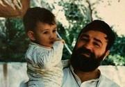 عکس کمتر دیده شده از نوه امام در آغوش مرحوم سیداحمد خمینی