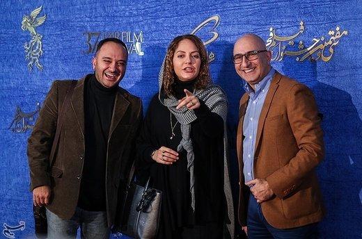 منصور ضابطیان، مهناز افشار و احسان کرمی در سیوهفتمین جشنواره فیلم فجر