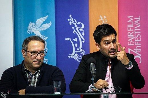 حامد بهداد و رضا میرکریمی در نشست خبری فیلم قصر شیرین