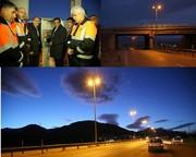 طرح روشنایی تقاطع پل یاس ازنا به بهره برداری رسید