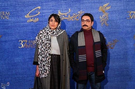 آرش لاهوتی کارگردان فیلم روزهای نارنجی به همراه همسرش در سیوهفتمین جشنواره فیلم فجر