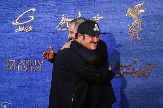جواد رضویان کارگردان فیلم زهر مار و مهران غفوریان در سیوهفتمین جشنواره فیلم فجر