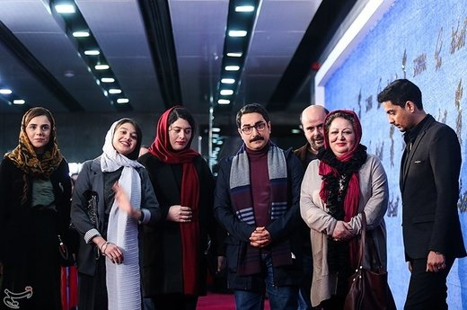 عوامل فیلم روزهای نارنجی به کارگردانی آرش لاهوتی در چهارمین روز سیوهفتمین جشنواره فیلم فجر