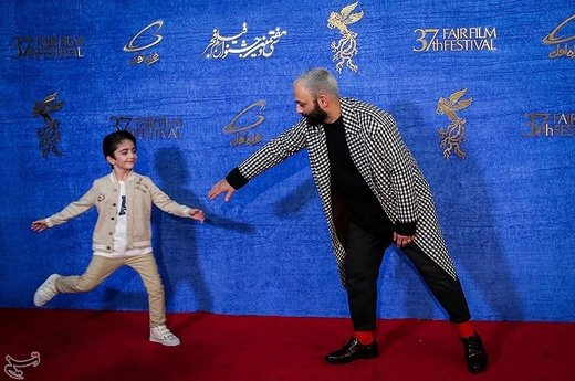 صابر ابر بازیگر فیلم مسخره باز در چهارمین روز سیوهفتمین جشنواره فیلم فجر