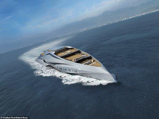 بزرگترین قایق تفریحی جهان ۲ برابر زمین فوتبال را ببینید