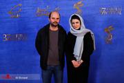 عکس   لیلا حاتمی کنار علی مصفا روی فرش قرمز جشنواره