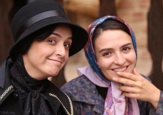 عکس   ترانه علیدوستی کنار گلاره عباسی در یک مراسم افتتاحیه