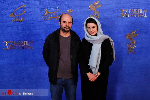 عکس | لیلا حاتمی کنار علی مصفا روی فرش قرمز جشنواره