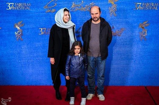 علی مصفا ، لیلا حاتمی و آویسا سجادی (بازیگر خردسال فیلم مردی بدون سایه) در ششمین روز سیوهفتمین جشنواره فیلم فجر