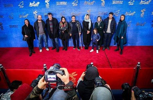 عوامل و بازیگران فیلم مردی بدون سایه در ششمین روز سیوهفتمین جشنواره فیلم فجر