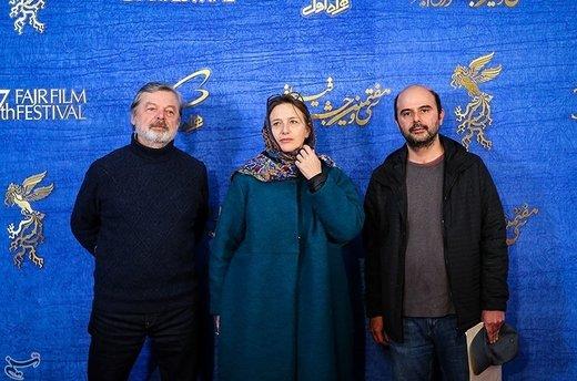 علی مصفا تهیه کننده و ژاک بی دو تهیه کننده مشترک فیلم یلدا به کارگردانی مسعود بخشی در ششمین روز سیوهفتمین جشنواره فیلم فجر