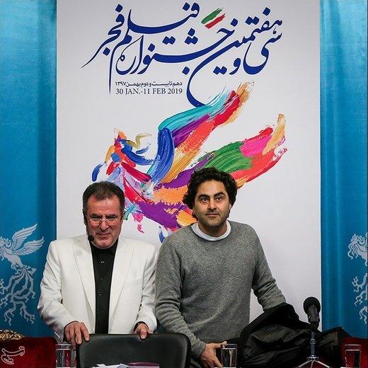 محمود گبرلو و مسعود بخشی کارگردان در نشست خبری فیلم یلدا