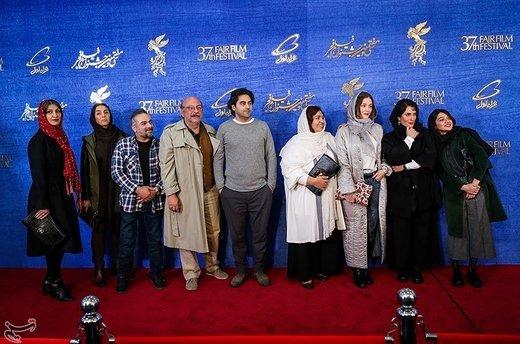 بازیگران فیلم یلدا به کارگردانی مسعود بخشی در ششمین روز سیوهفتمین جشنواره فیلم فجر