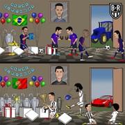 تفاوت جشن تولد رونالدو و نیمار!