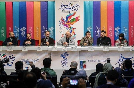 نشست خبری فیلم «پالتو شتری» - سیوهفتمین جشنواره فیلم فجر