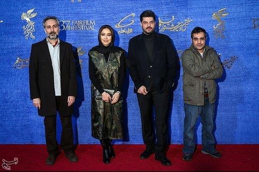بازیگران و عوامل فیلم پالتو شتری در هفتمین روز سیوهفتمین جشنواره فیلم فجر