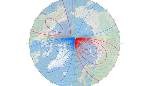 حرکت اسرارآمیز قطب شمال