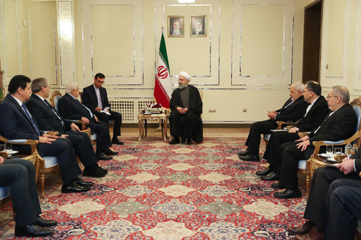 الرئیس روحانی: احلال الامن و الاستقرار فی سوریا یشكل احد اهم اهداف ایران فی المنطقة