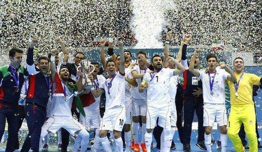 صعود تیم ملی فوتسال ایران به رده سوم جهان