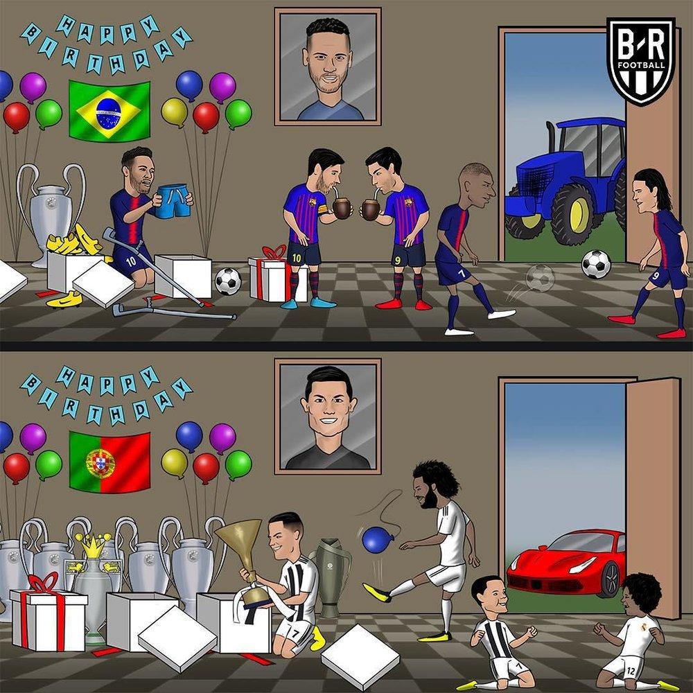 تفاوتهاي جشن تولد دو ستاره فوتبال!