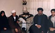 عکسی دیده نشده از حضور سیدحسن نصرالله در منزل آیتالله هاشمی