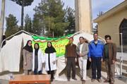 برپایی چادرهای خطرسنجی در یاسوج به مناسب دهه فجر