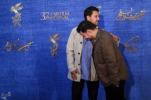 جواد عزتی و حامد بهداد بازیگران فیلم «جاندار» در سیوهفتمین جشنواره فیلم فجر