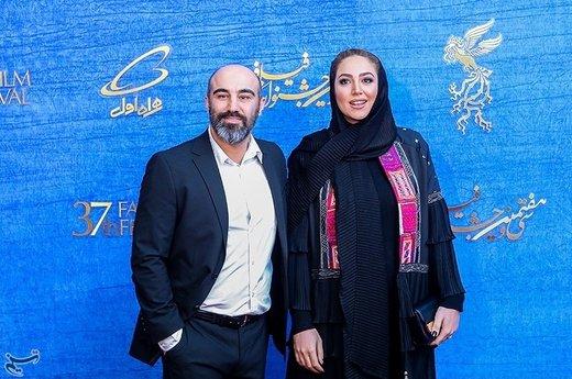 محسن تنابنده و همسرش در نهمین روز سیوهفتمین جشنواره فیلم فجر