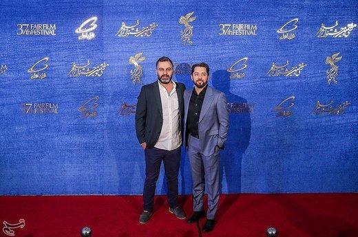 بهرام رادان بازیگر و میلاد صدر عاملی کارگردان فیلم سونامی در نهمین روز سیوهفتمین جشنواره فیلم فجر