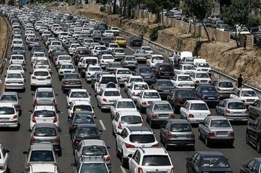 ترافیک سنگین در بیشتر محورهای کشور