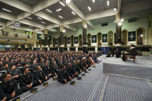 دیدار فرماندهان و کارکنان نیروی هوایی ارتش با رهبر معظم انقلاب اسلامی