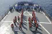 گرامیداشت پیروزی انقلاب اسلامی درآب های آزاد اقیانوس هند /عکس