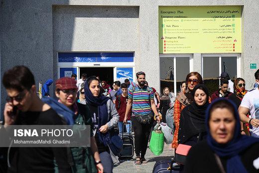 حضور مسافران در بندرعباس