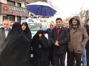 عکس | راهپیمایی عفت مرعشی همسر مرحوم رفسنجانی در ۲۲ بهمن