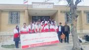 کاروان سلامت هلال احمر به منطقه سادات محمودی رسید