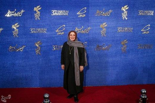 ژاله صامتی بازیگر فیلم حمال طلا در آخرین روز سیوهفتمین جشنواره فیلم فجر