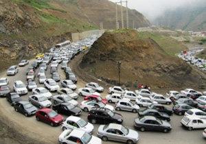 ترافیک سنگین در جادههای هراز و چالوس