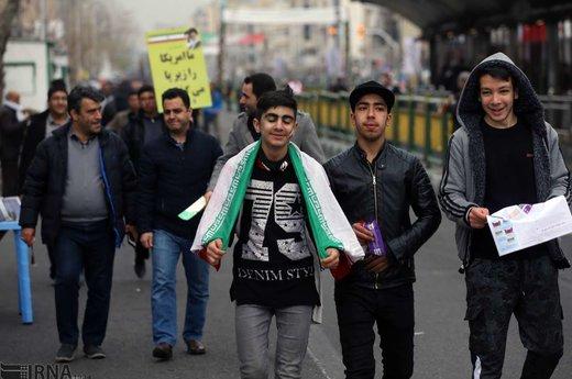 آغاز مراسم راهپیمایی یوم الله 22 بهمن در تهران
