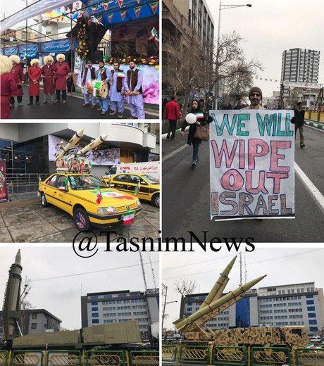 راهپیمایی بزرگ ۲۲بهمن در خیابان آزادی