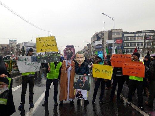 حضور نمادین «جلیقهزردها» در راهپیمایی 22 بهمن