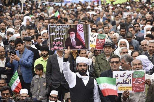 راهپیمایی ۲۲ بهمن در زابل