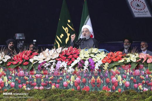 سخنرانی رئیس جمهور در مراسم راهپیمایی ۲۲ بهمن