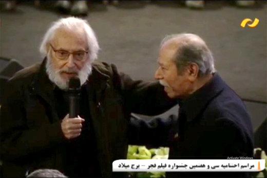فیلم | آخرین حضور مرحوم جمشید مشایخی در اختتامیه فیلم فجر