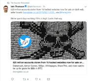 اسامی سایتهایی که از آنها ۶۱۷ میلیون اکانت و پسورد سرقت شد
