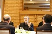 لاريجاني: خلال اجتماعه مع رئيس مجلس المستشارين الياباني