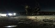 فیلم | صحنه انفجار انتحاری اتوبوس مرزبانان در جاده زاهدان