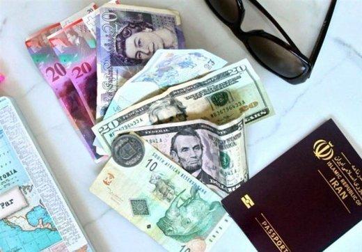 نرخ ارز مسافرتی بالا رفت/ یورو ۱۳ هزار و ۶۳۵ تومان شد