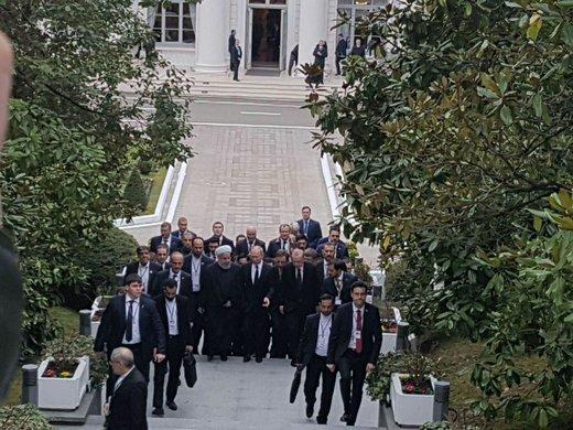 آغاز نشست سهجانبه روحانی، پوتین و اردوغان در مسکو